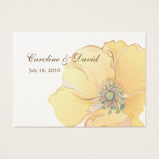 Watercolor Florals Favour Tag