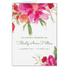 Watercolor Florals Funeral Note Card