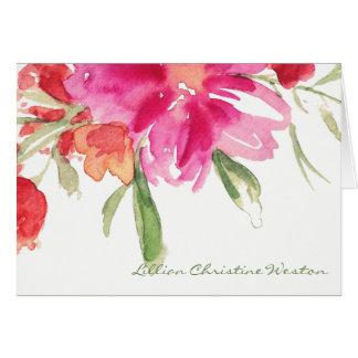 Watercolor Florals Sympathy Note Card