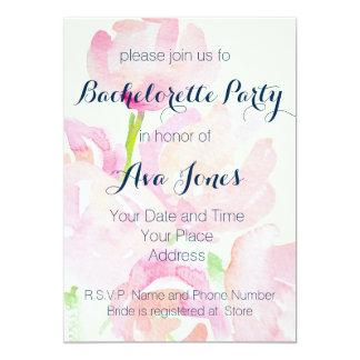 Watercolor Flower Bouquet Bachelorette Party 13 Cm X 18 Cm Invitation Card