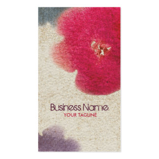 Watercolor Flower Business Card