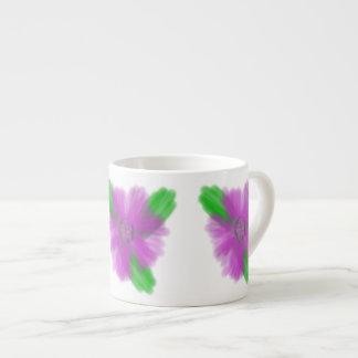 Watercolor Flower Espresso Mug 6 Oz Ceramic Espresso Cup
