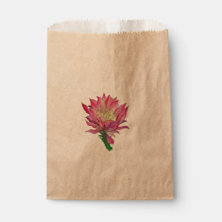 Watercolor Flower Favor Bags