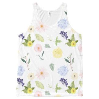 Watercolor Flower Garden All-Over Print Tank Top