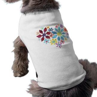Watercolor Flower Heart Sleeveless Dog Shirt