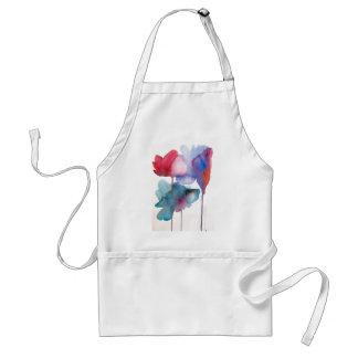Watercolor flower modern floral art design standard apron