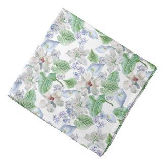 Watercolor Flower Pattern Bandana