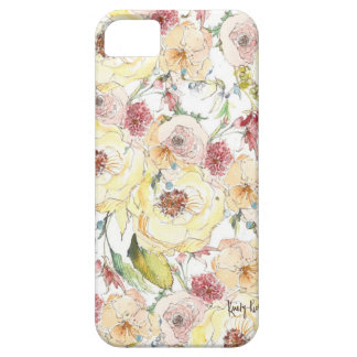 Watercolor Flower Pattern iPhone Case iPhone 5 Cover