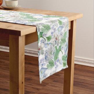 Watercolor Flower Pattern Long Table Runner