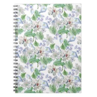 Watercolor Flower Pattern Notebook