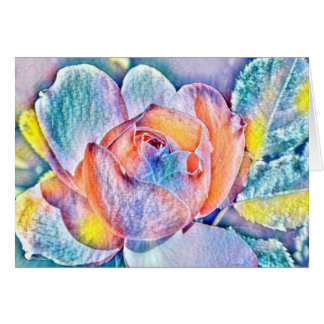 Watercolor Flower Rainbow Colors Card
