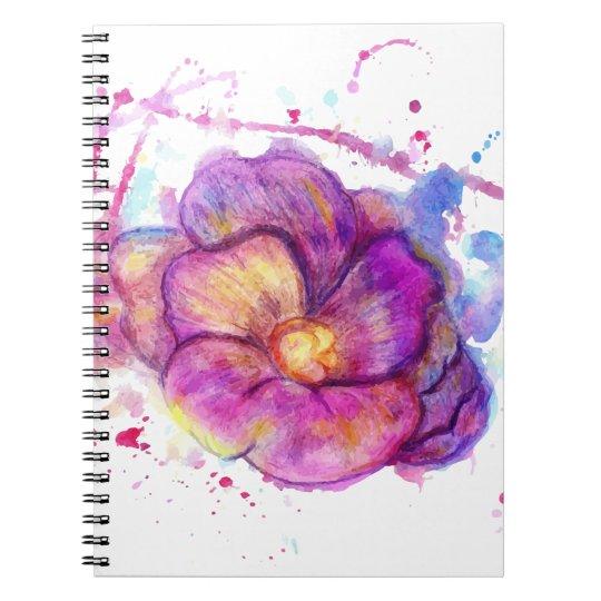 Watercolor Flower Spiral Notebook