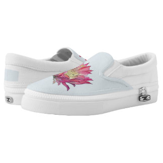 Watercolor Flower Zip on Shoes