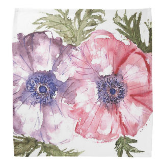 Watercolor flowers bandana