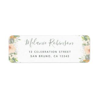 Watercolor Flowers & Confetti Wedding