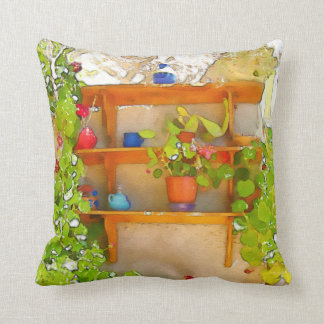Watercolor flowers cushion