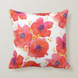 Watercolor Flowers Cushions