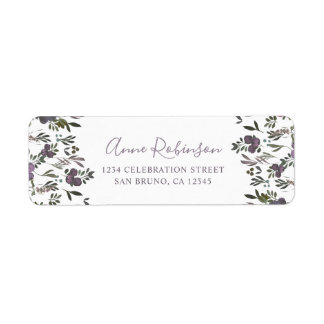 Watercolor Flowers & Elegant Script Wedding