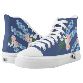 Watercolor Flowers High Tops