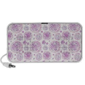 Watercolor Flowers Pattern iPod Speaker