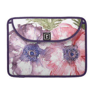 Watercolor flowers sleeve for MacBook pro