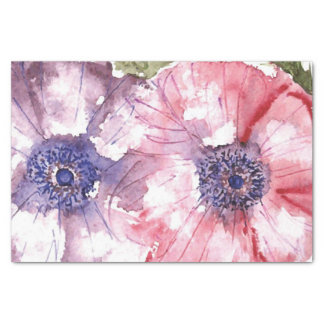 Watercolor flowers tissue paper