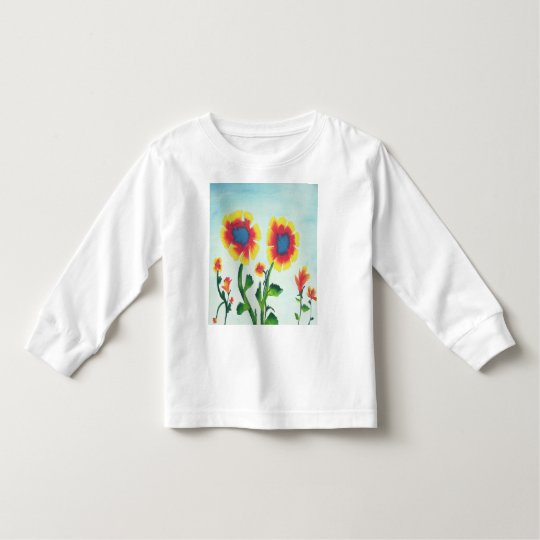 Watercolor Flowers Toddler T-Shirt