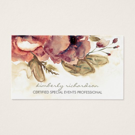 Elegant business cards uk gallery card design and card template watercolor flowers vintage maroon elegant business card zazzle watercolor flowers vintage maroon elegant business card reheart reheart Image collections