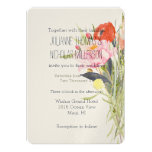 Watercolor Flowers Wedding 13 Cm X 18 Cm Invitation Card