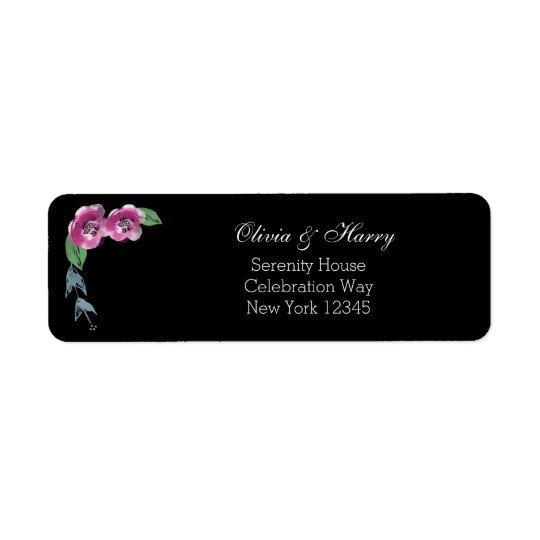Watercolor Flowers Wedding Return Address Labels