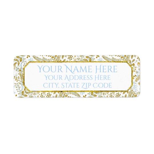 Watercolor Foliage Personalise Return Address Label