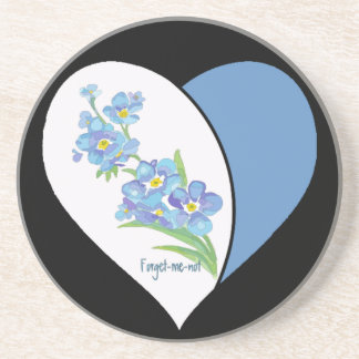 Watercolor Forget me not Flower Sandstone Coaster