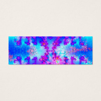 Watercolor Fractal Bookmark Mini Business Card