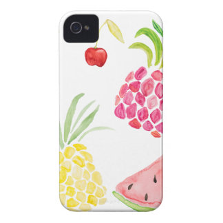 Watercolor fruit cherry pineapple watermelon iPhone 4 cases