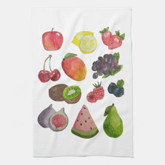 Watercolor Fruit Kitchen Towel