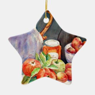 watercolor fruit still life christmas ornament