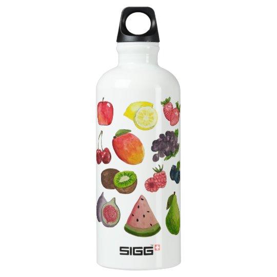 Watercolor Fruit Water Bottle