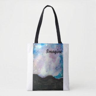 Watercolor Galaxy Bag