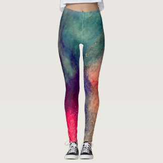 Watercolor Galaxy Leggings