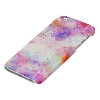 Watercolor Galaxy Purple Pattern Gloss iPhone Case