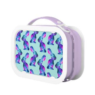 Watercolor Galaxy Rabbit Pattern Lunch Box