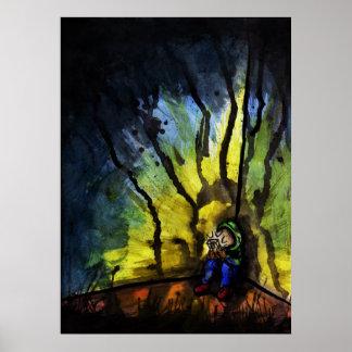 Watercolor Gamer Poster