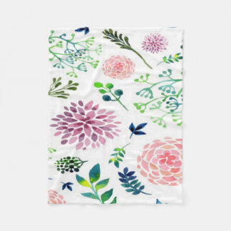 Watercolor Garden Baby Small Swaddle Blanket