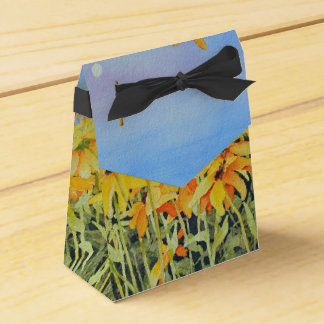 Watercolor Garden Gift Box Wedding Favour Box