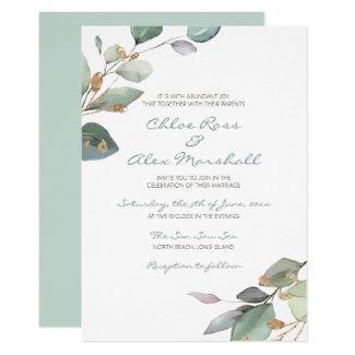 Watercolor Garden Invitation