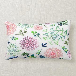 Watercolor Garden Lumbar Pillow