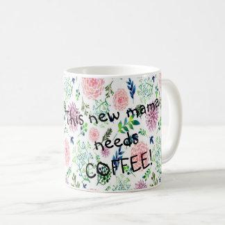 Watercolor Garden New Mama Coffee Mug