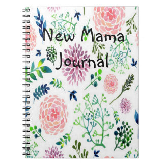 Watercolor Garden new mama Journal Spiral Note Book