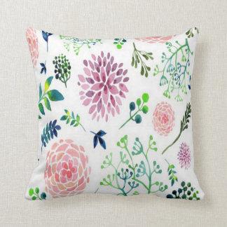 Watercolor Garden Throw Pillow Nursery Accessory