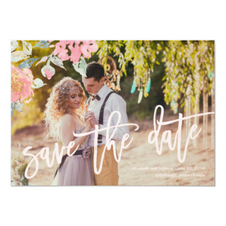 WATERCOLOR GARDEN WEDDING Save the Date Card 13 Cm X 18 Cm Invitation Card